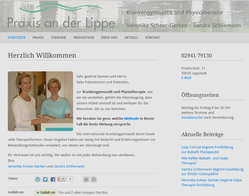 neue Seite praxisanderlippe.de