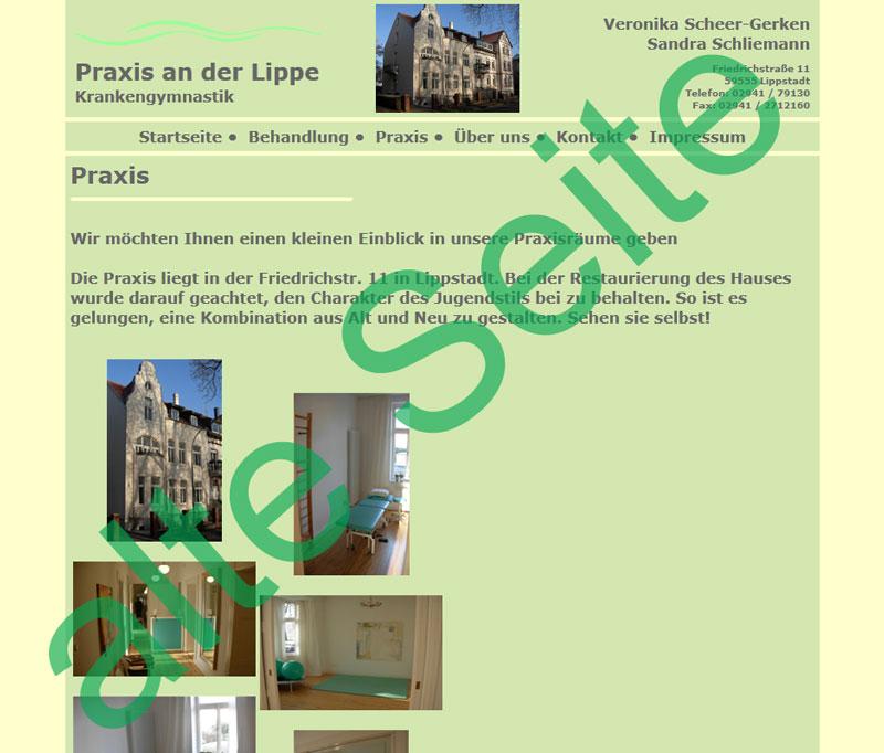 alte Seite praxisanderlippe.de