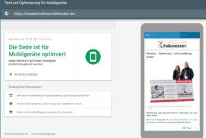 Bauunternehmen Falkenstein Screenshot
